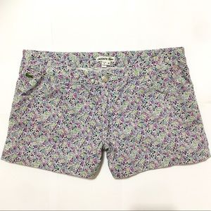 WOMENS LACOSTE FLORAL PRINT STRETCH COTTON SHORTS
